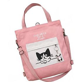 Túi Vải Tote Đeo Chéo XinhStore Hình Mèo
