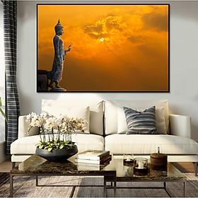 Tranh Canvas Trang TRí Treo Tường -  Đức Phật  Và Bầu Trời