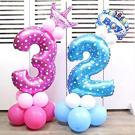 Bong bóng hình chữ số tráng nhôm kích cỡ 32 inch trang trí tiệc sinh nhật