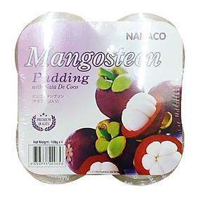 Thạch Pudding Dừa Nanaco 108G (108G X 4Cups/Lốc)