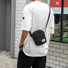 Túi Đeo Chéo Basic Messenger mini bag thời trang nam nữ unisex phong cách nhật bản đơn giản năng động dáng đứng chất vải dệt kim cao cấp chống nhăn chống xù nhỏ gọn tiện lợi đi chơi đi du lịch