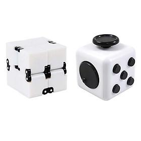 Combo giảm stress Fidget Cube +  Infinity Cube Vô Cực Thần Kỳ (màu ngẫu nhiên)