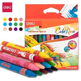 Bút sáp nến Deli - 12 màu/18 màu/24 màu - 1 hộp - EC20800/EC20810/EC20820