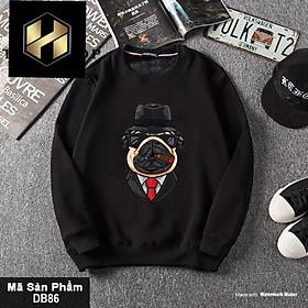 ( Best seller) Áo sweater nam nữ chó nón đen có bigsize