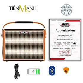 [Bluetooth, Pin sạc] Amply Aroma AG-15A - Loa Ampli Guitar AG15A Amplifier AG15 Hàng Chính Hãng - Kèm Móng Gẩy DreamMaker