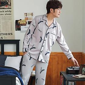 Đồ bộ Pijama đồ ngủ nam cao cấp, vải COTTON 100 dày dặn & thoáng khí phù hợp cho cả 4 mùa (702)