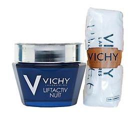 Kem Dưỡng Giúp Chống Nhăn Và Làm Săn Chắc Da Ban Đêm - Liftactiv Ds Night Cream Vichy 50ml - 100458675 Tặng Khăn Tắm Vichy (100cmx40cm)