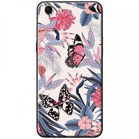 Ốp lưng dành cho Oppo A71 mẫu Bươm bướm hồng