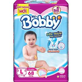 Combo 2 gói Tã dán Bobby siêu thấm khô thoáng L68 [Tặng hộp đồ bông 5 món đặc biệt Bobby Chan & 4 người bạn]-1