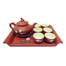 Bộ ấm pha trà gốm tử sa Bát Tràng