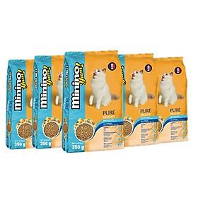 Combo 4 gói thức ăn cho mèo Minino Yum 350gr - Tặng 1 gói cùng loại