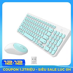 Bộ bàn phím và chuột không dây IK6630 siêu mỏng, siêu tiết kiệm pin, không gây tiếng ồn (màu ngẫu nhiên)