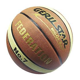 Bóng rổ Gerustar Size 7 PU 2M Federation - Dán (Tặng Băng dán thể thao + Kim bơm + Lưới đựng)