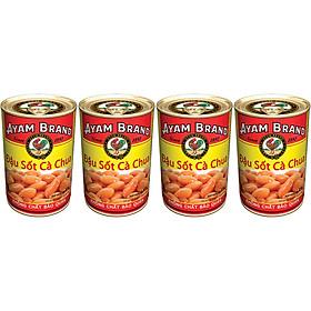 Lốc 4 Lon Đậu Sốt Cà Chua Ayam Brand (425g x 4)