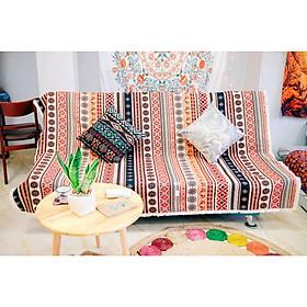 Thảm Vải Thổ Cẩm Phủ Ghế Sofa, Khăn Trải Bàn, Thảm Trải Sàn CTC04 - Trang Trí Phòng Khách, Phòng Ngủ