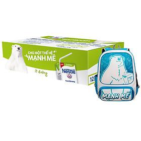 Thùng Sữa nước Nestlé Ít Đường 180ml - Tặng Balo Gấu Mạnh Mẽ