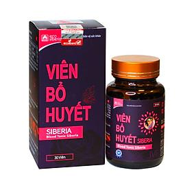 Viên bổ huyết Siberia-Bổ máu hoạt huyết, tăng hồng cầu, ổn định nội tiết, cung cấp các dưỡng chất cần thiết hỗ trợ sinh sản (hộp 30 viên)