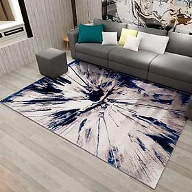 Thảm Trang Trí Phòng Khách Và Sofa Lông Ngắn BA004 - Blue Art