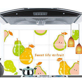 Combo 2 tấm Decal dán bếp Sweet life as fruit AY3010