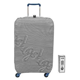Túi Bọc Vali Hình Sọc Đen Trắng Loqi (58 x 65 cm)