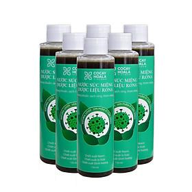 Combo 6 Chai Nước súc miệng dược liệu Rona ( Mua 6 tính tiền 5) CoCayHoaLa - Khử mùi - Sạch bay hôi miệng - Chặn ngay nhiệt miệng - Mẹ bầu và trẻ nhỏ dùng được, chai 150ml - Hàng chính hãng
