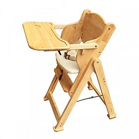 Ghế ăn cho bé bằng gỗ 001