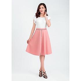 Set áo thun tay bèo chân váy midi 41202 – 48201