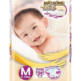 Tã Dán Siêu Mềm Bobby Extra Soft Dry Gói Lớn M34 (34 Miếng)-1