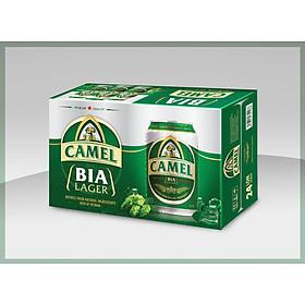 BIA CAMEL LAGER (XANH) 4,8% - Thùng 24 lon x 330ml