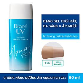Gel Chống Nắng Màng Nước Dưỡng Ẩm Bioré UV Aqua Rich Watery SPF50+/PA++++ 90ml