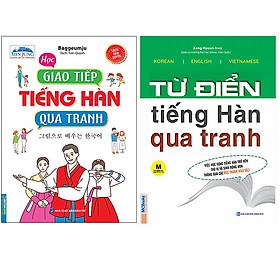 Combo Học Giao Tiếp Tiếng Hàn Qua Tranh+Từ Điển Tiếng Hàn Qua Tranh