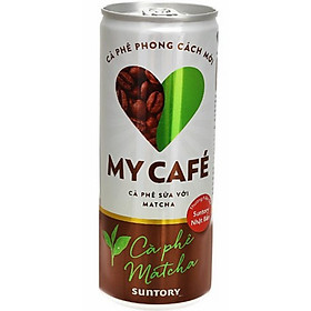 Hình đại diện sản phẩm Cà phê Matcha My Café lon 235ml
