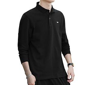 Áo Thun Polo Nam Tay Dài, Chất liệu vải 100% coton cá sấu mềm mại, co giãn đàn hồi, Logo THÊU, phong cách trẻ trung, sành điệu
