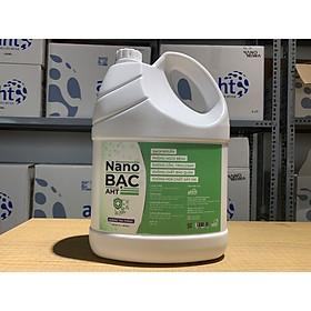 Can Nano bạc AHT diệt khuẩn 5 lít hương hoa hồng Pháp, trà trắng - dùng rửa tay diệt khuẩn, xịt vật dụng nhà cửa - hàng chính hãng