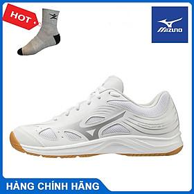 Giày cầu lông Mizuno Cyclone speed 3 V1GA218 màu đỏ và màu trắng chính hãng, êm chân, hỗ trợ vận động tốt - Tặng tất thể thao Bendu