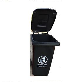 Hình ảnh Thùng rác nhựa 120L màu đen