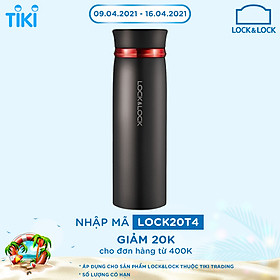 Bình Giữ Nhiệt Lock&Lock Feather Light LHC4131BKR (450ml)