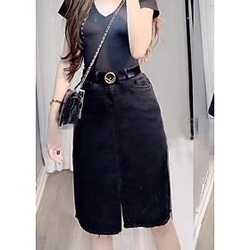 Chân Váy Jean Chữ A Bigsize Co Giãn VGD17 Size 33-38