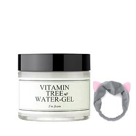Gel Dưỡng Ẩm Cho Mọi Loại Da I'm from Vitamin Tree Water Gel 75g + Tặng Kèm 1 Băng đô nhung tai mèo (màu ngẫu nhiên)