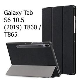 Bao Da Cover Dành Cho Máy Tính Bảng Samsung Galaxy Tab S6 10.5  (2019) T860 / T865 Hỗ Trợ Smart Cover