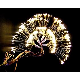 Dây đèn led trang trí hiệu ứng pháo hoa màu vàng ấm 500 bóng led