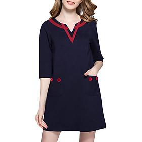 Đầm Cho Người Mập Đủ Size 22 - Xanh Đen