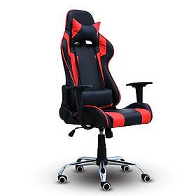 BG Ghế chơi game Mẫu E01 (Red/Black) chân xoay 360 độ, ngả 165 độ (hàng nhập khẩu)