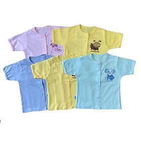 Combo 10 áo sơ sinh tay ngắn cài nút giữa Thái Hà Thịnh