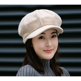 Mũ Len Nữ FOOTBALL Bere lông thỏ Nón Len Nữ Beret FOOTBALL thời trang Hàn Quốc - DONA21012101