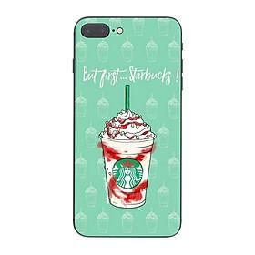 Ốp lưng điện thoại iPhone in họa tiết But first Starbucks - KRCD0025