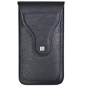 Bao da túi 2 ngăn đeo hông thắt lưng loại đứng cho điện thoại nhiều size từ  5 inch đến 6.5 inch