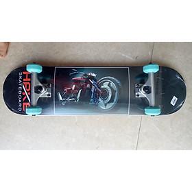 Ván Trượt Skateboard Gỗ 150007 trục hợp kim + gỗ ép 3 lớp bánh xe màu ngẫu nhiên