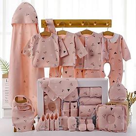 Set quần áo sơ sinh cao cấp BABY cho bé (22 chi tiết) Tặng kèm 1 lục lạc