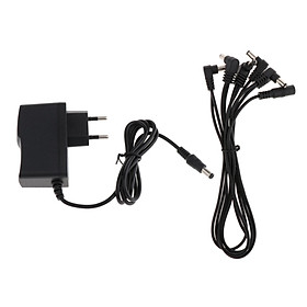 9V1A AC/DC Guitar Effect Effector Power Adapter Charger w/ 1 to 5 Way Cable